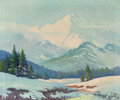 Texas:Early Texas Art - Regionalists, ROBERT WILLIAM WOOD (American, 1889-1979). Winter Landscape.Oil on canvas. 25 x 30 inches (63.5 x 76.2 cm). Signed lowe...