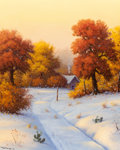 Texas:Early Texas Art - Regionalists, DON WARREN (American, 1935-2006). Early Autumn Snow. Oil oncanvas. 30 x 24 inches (76.2 x 61.0 cm). Signed lower left: ...