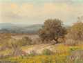 Paintings, PORFIRIO SALINAS (American, 1910-1973). Summer Landscape on the Hillside, 1960. Oil on canvas . 9 x 12 inches (22.9 x 30...