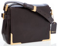 Luxury Accessories:Bags, Fendi Dark Brown Leather Crossbody Bag with Gold Hardware. ...