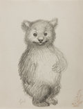 Books:Prints & Leaves, Garth Williams. Preliminary Character Sketch from Three LittleAnimals. Pencil sketch on plain 8.5 x 11 inch drawing...
