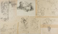 Books:Prints & Leaves, Garth Williams. SIGNED. Preliminary Character Sketches from TheTall Book of Make-Believe. Consists of nine penc...
