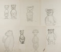 Books:Children's Books, Garth Williams. Preliminary Character Sketches from Three LittleAnimals. Consists of seven pencil sketches on p...