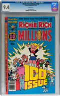Modern Age (1980-Present):Humor, Richie Rich Millions #100 (Harvey, 1980) CGC NM 9.4 White pages....