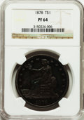Proof Trade Dollars: , 1878 T$1 PR64 NGC. NGC Census: (83/58). PCGS Population (73/25).Mintage: 900. Numismedia Wsl. Price for problem free NGC/P...