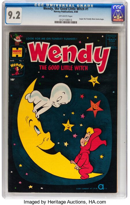 Wendy, the Good Little Witch #1 (Harvey, 1960) CGC NM- 9.2 Off-white pages....
