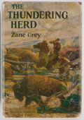 Books:Fiction, Zane Grey. The Thundering Herd. Harper & Brothers, 1925.First edition. Publisher's cloth and dust jacket. Board edg...