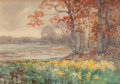 Works on Paper, JULIAN ONDERDONK (American, 1882-1922). Landscape, ca. 1908-9. Watercolor on paper . 6-1/2 x 9-1/2 inches (16.5 x 24.1 c...