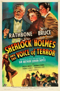 "Movie Posters:Crime, Sherlock Holmes and the Voice of Terror (Universal, 1942). OneSheet (27"" X 41"").. ..."