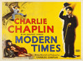 "Movie Posters:Comedy, Modern Times (United Artists, R-1956). British Quad (30"" X 40"")....."