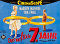 """Movie Posters:Comedy, The Seven Year Itch (20th Century Fox, 1955). German A0 (33.5"""" X45"""").. ..."""