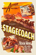 "Movie Posters:Western, Stagecoach (United Artists, R-1944). One Sheet (27"" X 41"").. ..."