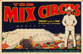 "Movie Posters:Western, Tom Mix Circus Poster (Late 1930s). Poster (27.5"" X 42"").. ..."