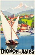 "Movie Posters:Miscellaneous, Thonon Les Bains Travel Poster (Paris Lyon Mediteranée RailLine,1929). Poster (24.5"" X 39.25"").. ..."