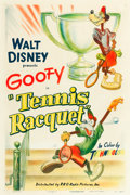 "Movie Posters:Animated, Tennis Racquet (RKO, 1949). One Sheet (27"" X 41"").. ..."