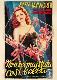 "You Were Never Lovelier (Columbia, 1949). First Post-War Italian 2 - Foglio (39"" X 55"")"