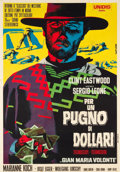"Movie Posters:Western, A Fistful of Dollars (Unidis, R-1968). Italian 2 - Foglio (39"" X55"").. ..."