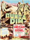 "Movie Posters:Action, Gunga Din (RKO, 1939). Australian One Sheet (27.25"" X 38"").. ..."