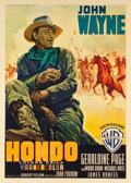 "Movie Posters:Western, Hondo (Warner Brothers, 1954). Italian 2 - Foglio (39"" X 55"").. ..."