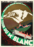 "Movie Posters:Miscellaneous, Le Tour du Mt. Blanc Travel Poster (Paris Lyon Mediteranée Rail Line, 1927). Poster (31"" X 42.5"").. ..."