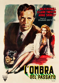 "Murder, My Sweet (RKO, 1940s). Italian First Post War Release 2 - Foglio (39.5"" X 55"")"