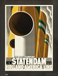 "Statendam Holland-America Line Travel Poster (1929). Poster (31.5"" X 41"")"