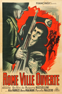 """Open City (Francinex, 1946). French Affiche (30.5"""" X 46"""")"""