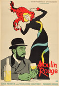 "Movie Posters:Drama, Moulin Rouge (CWF, 1957). Polish One Sheet (23"" X 33.5"") A1Vertical Style.. ..."