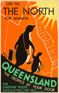 "Movie Posters:Miscellaneous, Queensland, Australia Travel Poster (Queensland Government TouristBureau, Circa 1935). Poster (25.25"" X 39.25"").. ..."