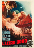 "Movie Posters:Hitchcock, Strangers on a Train (Warner Brothers, 1952). Italian 2 - Foglio(39"" X 55"").. ..."