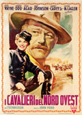 "Movie Posters:Western, She Wore a Yellow Ribbon (RKO, 1950). Italian 2 - Foglio (39.5"" X55"").. ..."