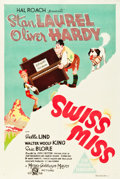 "Movie Posters:Comedy, Swiss Miss (MGM, 1938). Australian One Sheet (27"" X 40"").. ..."