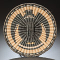 American Indian Art:Baskets, A HOPI PICTORIAL TWINED PLAQUE. c. 1940...