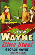 "Movie Posters:Western, Blue Steel (Monogram, 1934). One Sheet (27"" X 41"").. ..."