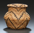 American Indian Art:Baskets, A PIMA POLYCHROME COILED JAR. c. 1920...