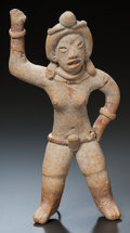 Pre-Columbian:Ceramics, A XOCHIPALA FIGURE WITH UPRAISED ARM. c. 1200 - 900 BC...