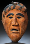 American Indian Art:Wood Sculpture, A CHEROKEE BOOGER MASK. c. 1930...