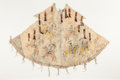 American Indian Art:Beadwork and Quillwork, A SIOUX PAINTED HIDE MODEL TIPI . c. 1890...