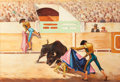 Texas:Early Texas Art - Regionalists, PORFIRIO SALINAS (American, 1910-1973). The Bullfighter. Oilon canvas laid on masonite. 48 x 62-1/2 inches (121.9 x 158...