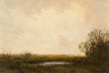 Texas:Early Texas Art - Regionalists, JULIAN ONDERDONK (American, 1882-1922). Marsh Lands, 1909.Oil on panel. 6 x 9 inches (15.2 x 22.9 cm). Signed lower rig...