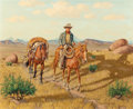 Texas:Early Texas Art - Regionalists, FRED DARGE (American, 1900-1978). The Hunter, Davis Mountains,Texas. Oil on artists' board. 16 x 20 inches (40.6 x 50.8...