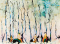 American Indian Art, EARL BISS, CROW (1947 - 1998). Foraging the Dead Wood...