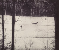 PETER DOIG (Scottish, b. 1959) Almost Grown, 2001 Etching and aquatint in colors 27 x 32 inches (
