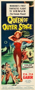 "Movie Posters:Science Fiction, Queen of Outer Space (Allied Artists, 1958). Insert (14"" X 36"")....."