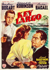 "Key Largo (Warner Brothers, 1948). Belgian (14"" X 19.5"")"