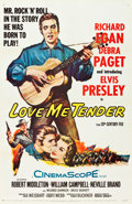 "Movie Posters:Elvis Presley, Love Me Tender (20th Century Fox, 1956). One Sheet (27"" X 41"")....."