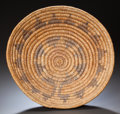 American Indian Art:Baskets, A NAVAJO POLYCHROME COILED WEDDING TRAY. c. 1940...