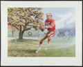 """Football Collectibles:Others, Joe Montana """"The Dream Begins"""" Signed Lithograph. ..."""