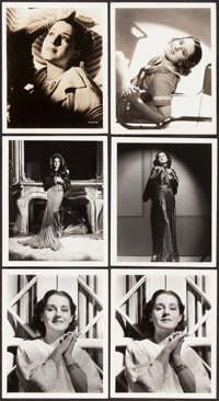"""Norma Shearer by George Hurrell (MGM, 1930s). Portrait Photos (6) (8"""" X 10""""). ... (Total: 6 Items)"""