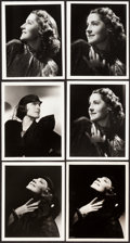 "Movie Posters:Miscellaneous, Norma Shearer by George Hurrell (MGM, 1930s). Portrait Photos (6)(8"" X 10"").. ... (Total: 6 Items)"